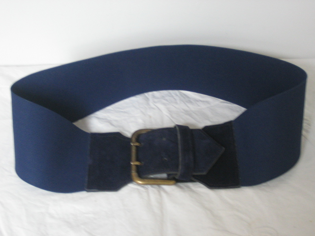 princess mimi vintage navy cinch belt with suede and